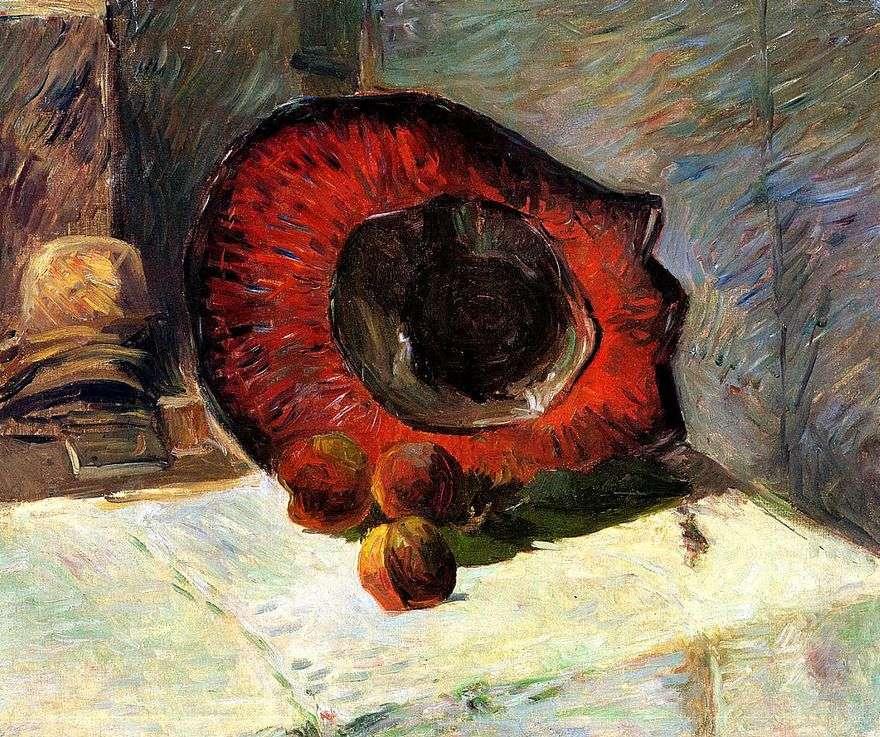 القبعة الحمراء والفواكه   بول غوغان