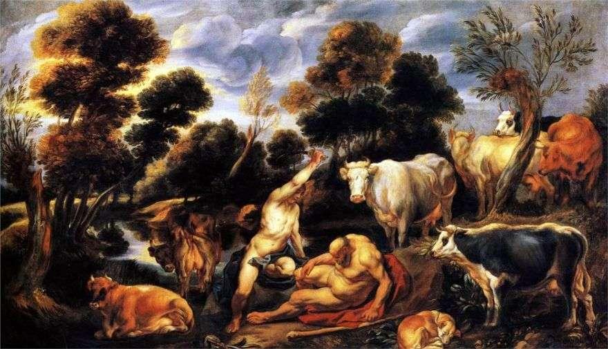 مقتل أرغوس من قبل ميركوري   يعقوب جوردان
