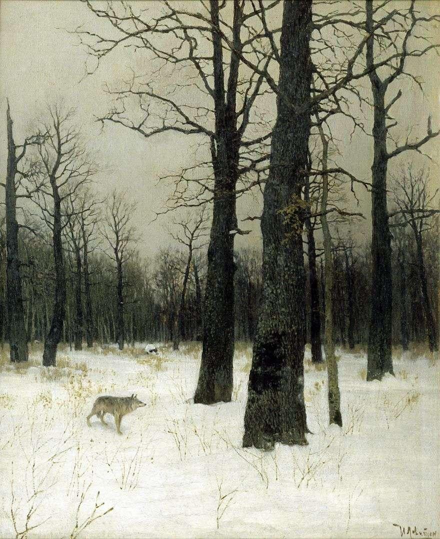 الشتاء في الغابة   إسحاق ليفيتان