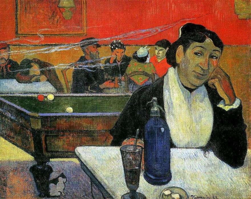 Night Cafe، Arles (مقهى ليلي في Arles)   بول غوغان