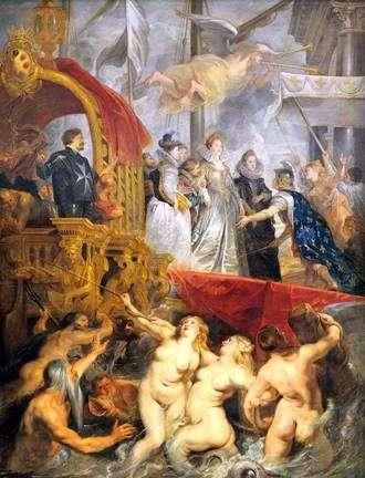 وصول ماري دي ميديسي إلى مرسيليا   بيتر روبنز