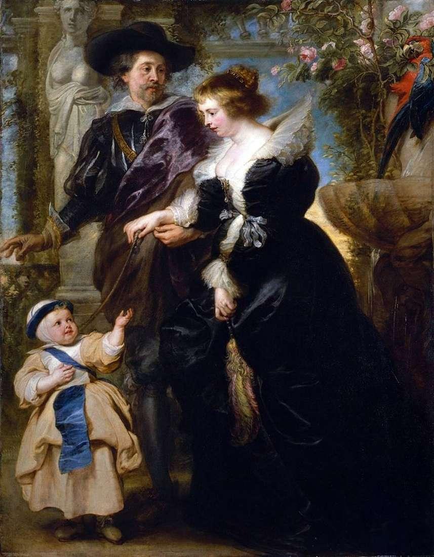 روبنز ، زوجته وابنه   بيتر روبنز