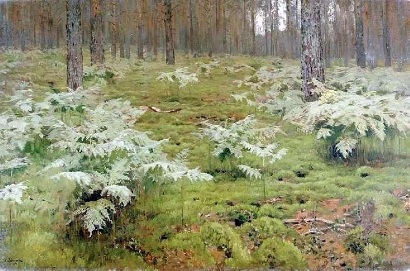 السرخس في الغابة   إسحاق ليفيتان