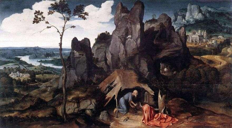 القديس جيروم في البرية   يواكيم باتينير