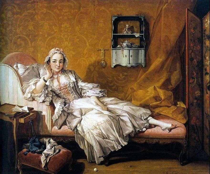 صورة زوجة الرسام ماري جين بوزوت   فرانسوا باوتشر