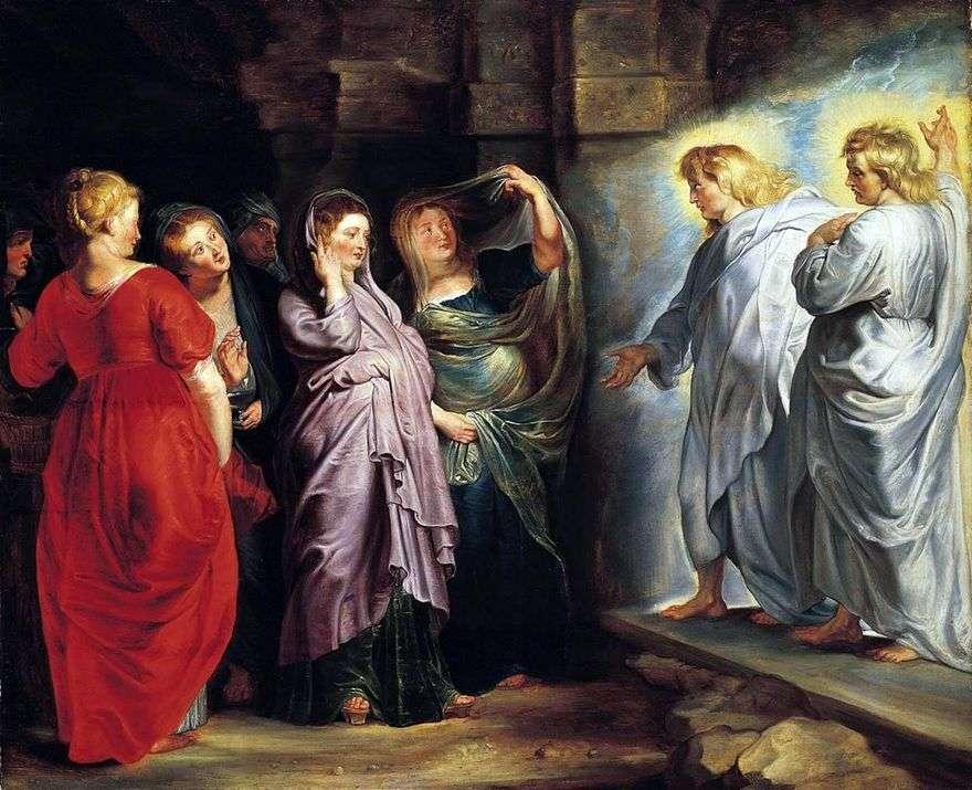المرأة المقدسة في قبر المسيح   بيتر روبنز