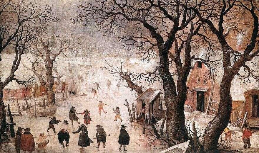 الشتاء في المدينة   هندريك أفركامب