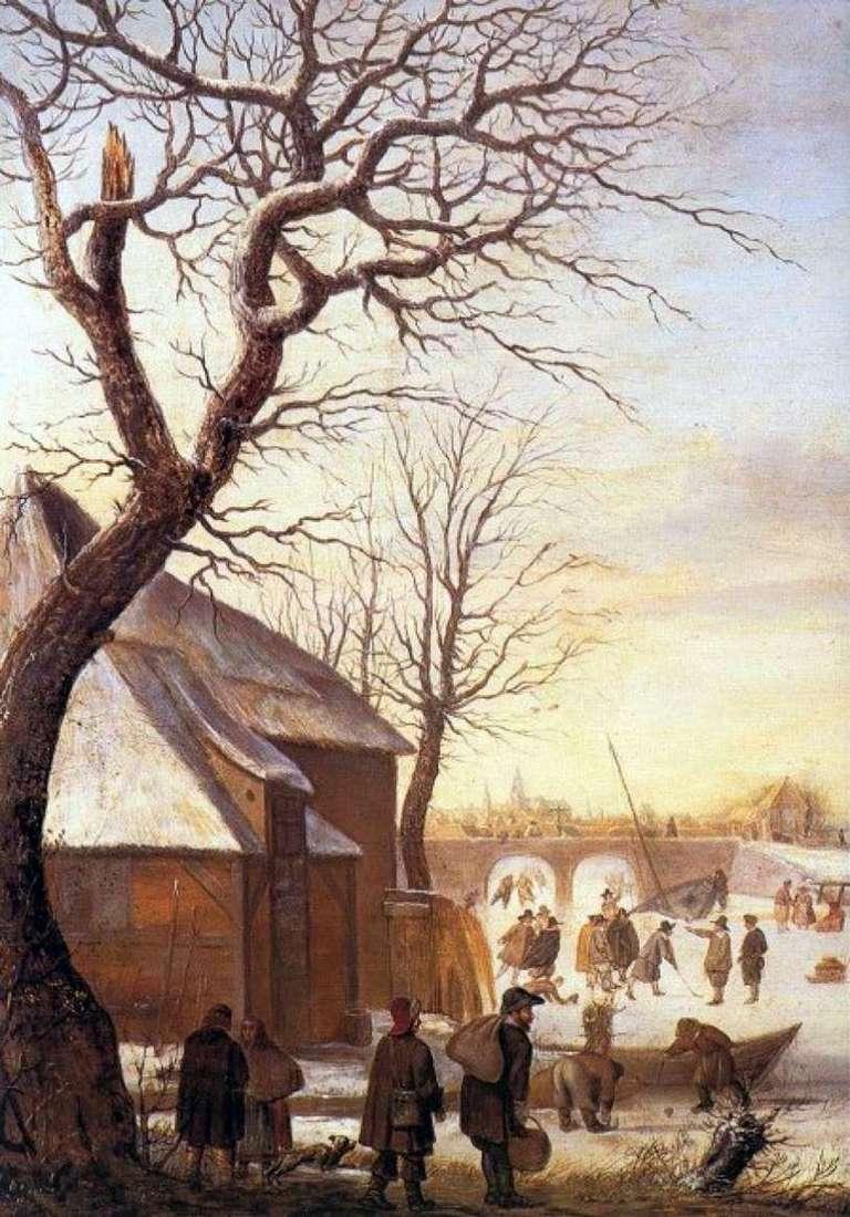 الشتاء المناظر الطبيعية   هندريك أفركامب
