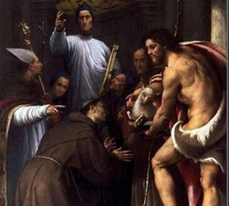 المبارك Giustiniani مع اثنين من الشرائع والقديسين   بيردينون