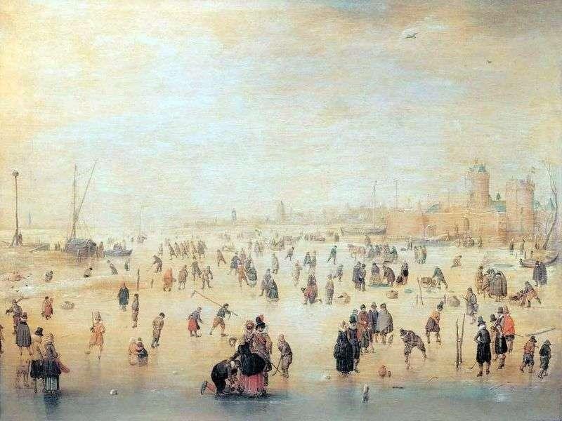 التزلج خارج أسوار المدينة   هندريك أفركامب