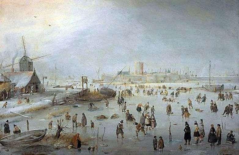 على الجليد خارج المدينة   هندريك أفركامب