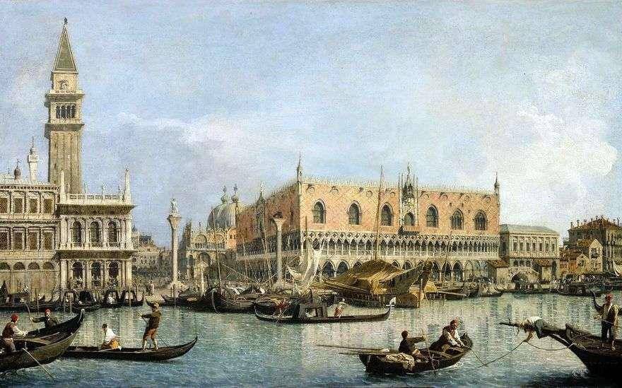 منظر لقصر دوجي في البندقية   أنطونيو كاناليتو