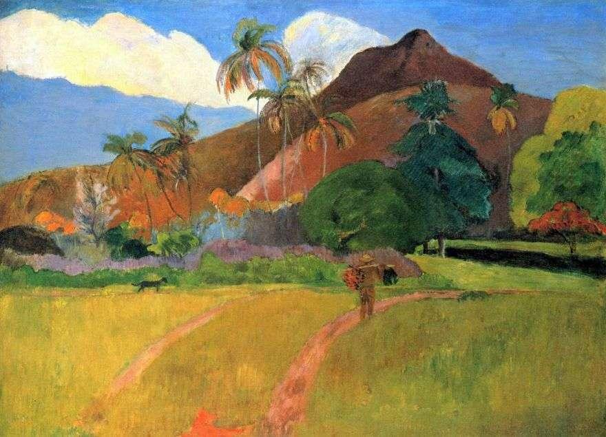 جبال في تاهيتي   بول غوغان