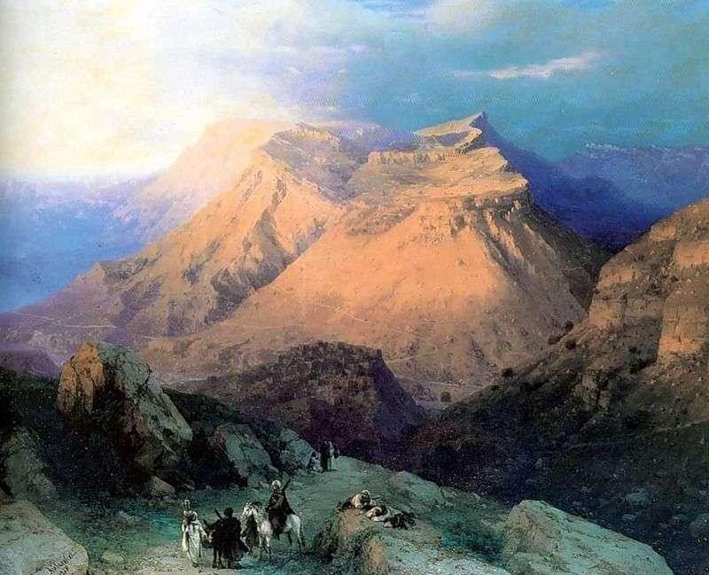 أول جنب في داغستان. عرض من الشرق   إيفان Aivazovsky