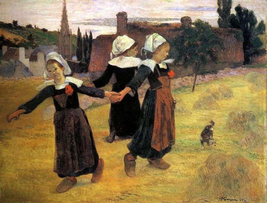 رقصة مستديرة من البريتونات الصغيرة   بول غوغان
