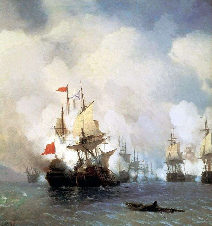 قتال في مضيق خيوس في 24 يونيو 1770   إيفان إيفازوفسكي