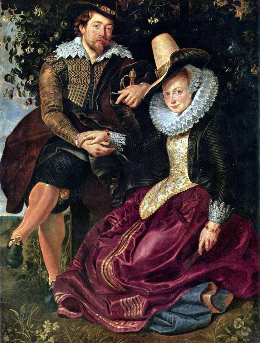 فنان مع الزوجة إيزابيلا برانت   بيتر روبنز