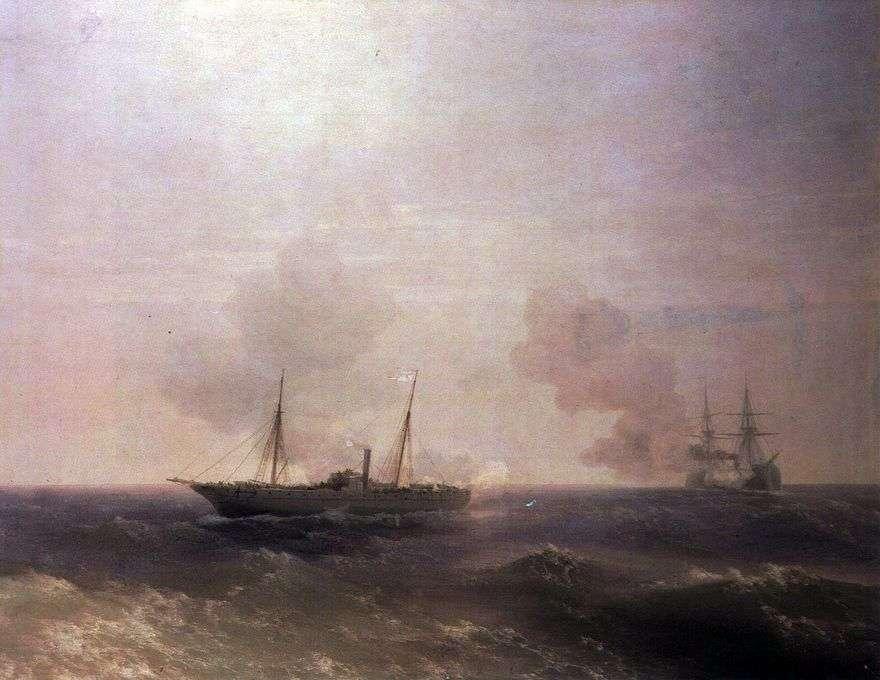 معركة فيستا مع البارجة التركية Fehti Buland   إيفان إيفازوفسكي