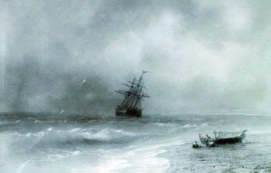 البحر العاصف   إيفان إيفازوفسكي