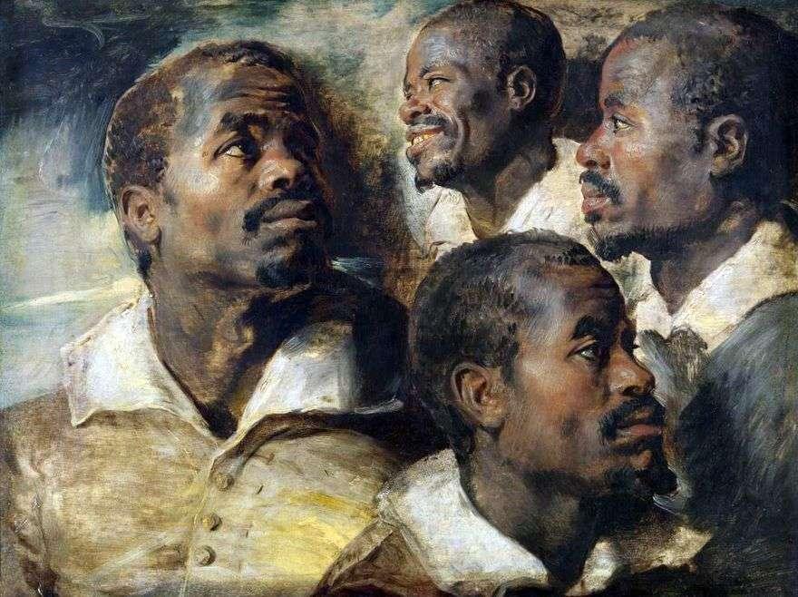 أربعة رسومات لرئيس أفريقي   بيتر روبنز