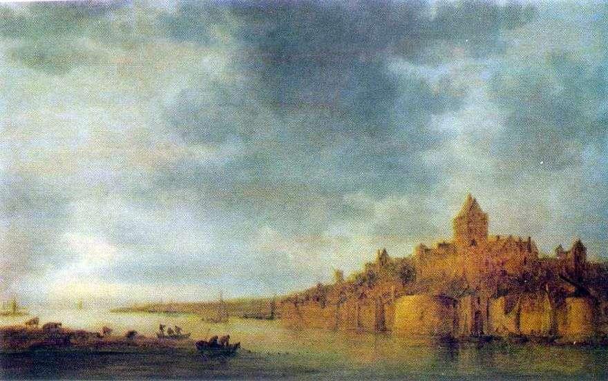 منظر لنهر وال في نيميغن   جان فان جوين