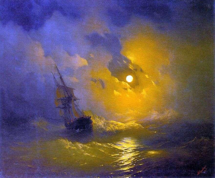 العاصفة على البحر ليلا   إيفان إيفازوفسكي