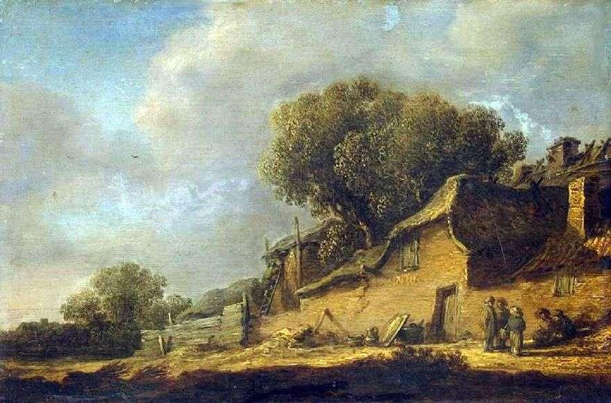 المناظر الطبيعية مع الفلاح هت   جان فان جوين