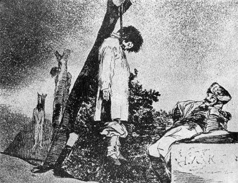 النقوش Caprichos (أهواء) أهوال الحرب   فرانسيسكو دي غويا