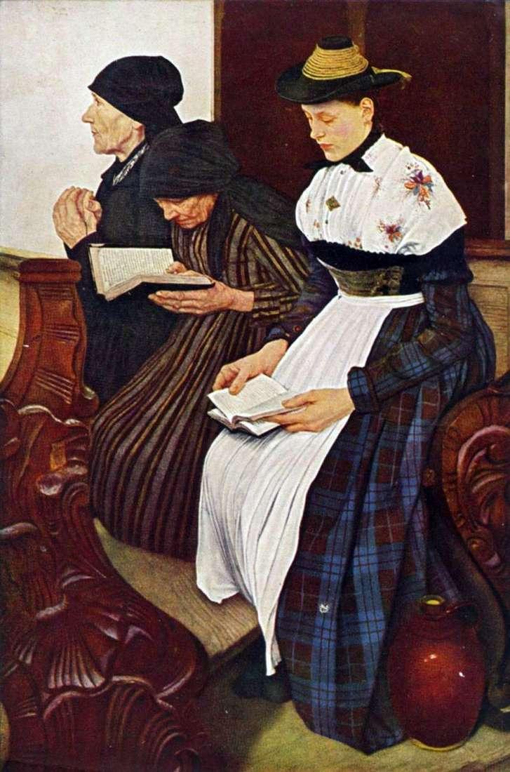 ثلاث نساء في الكنيسة   فيلهلم ليبل