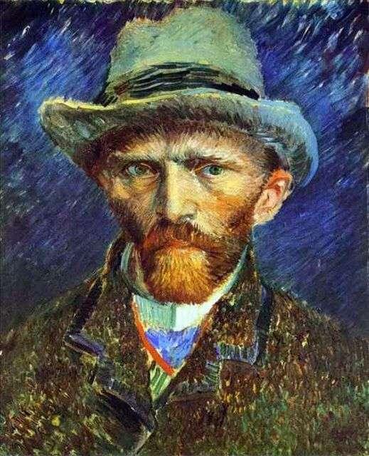 صورة شخصية في قبعة رمادية   فنسنت فان جوخ