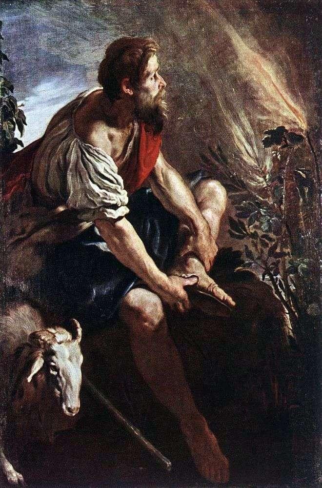 موسى أمام الأدغال المحترقة   دومينيكو فيتي