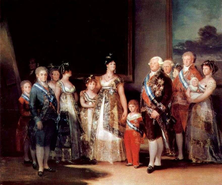 صورة لعائلة تشارلز الرابع   فرانسيسكو دي غويا