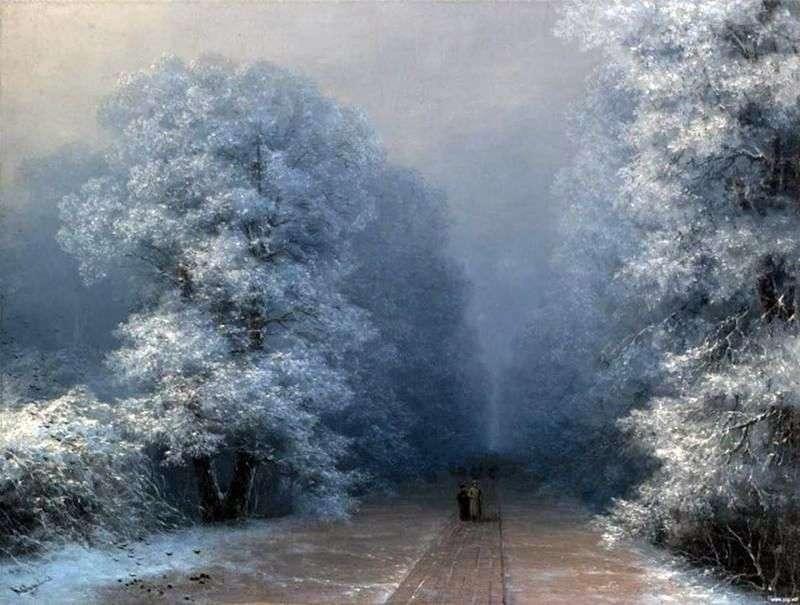 فصل الشتاء المناظر الطبيعية   إيفان Aivazovsky