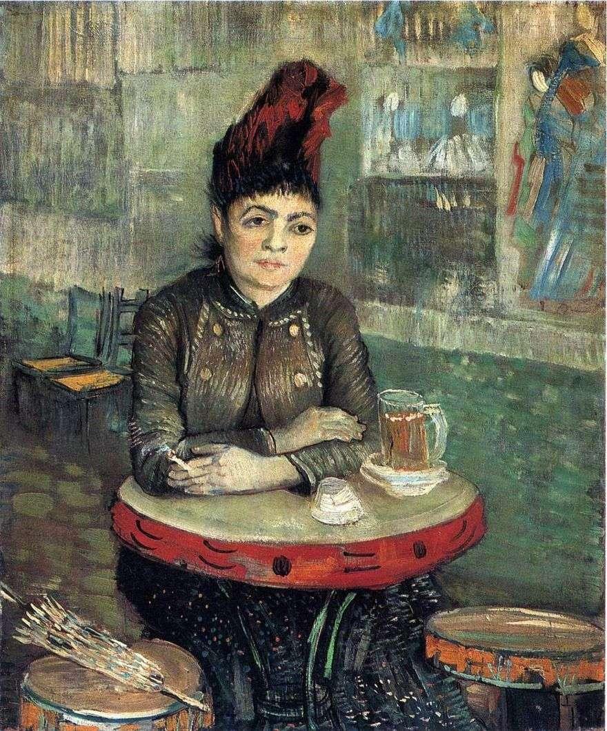 أغوستينا سيغاتوري في مقهى تامبورين   فنسنت فان جوخ
