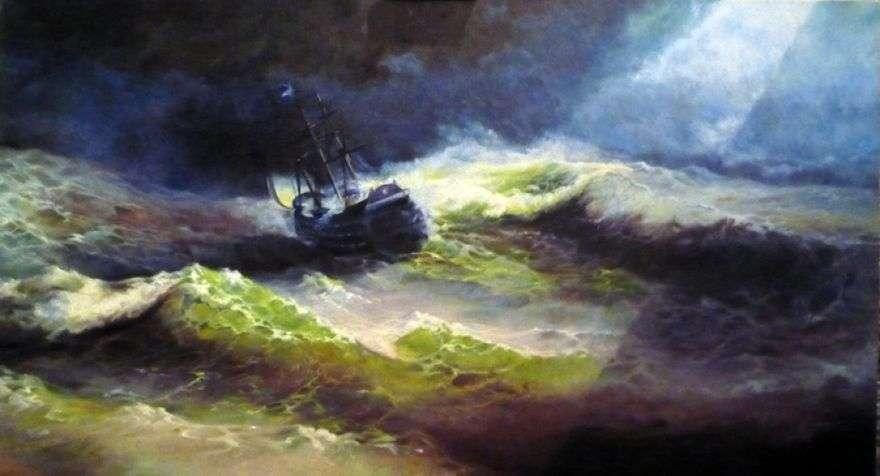 السفينة الإمبراطورة ماريا أثناء العاصفة   إيفان إيفازوفسكي