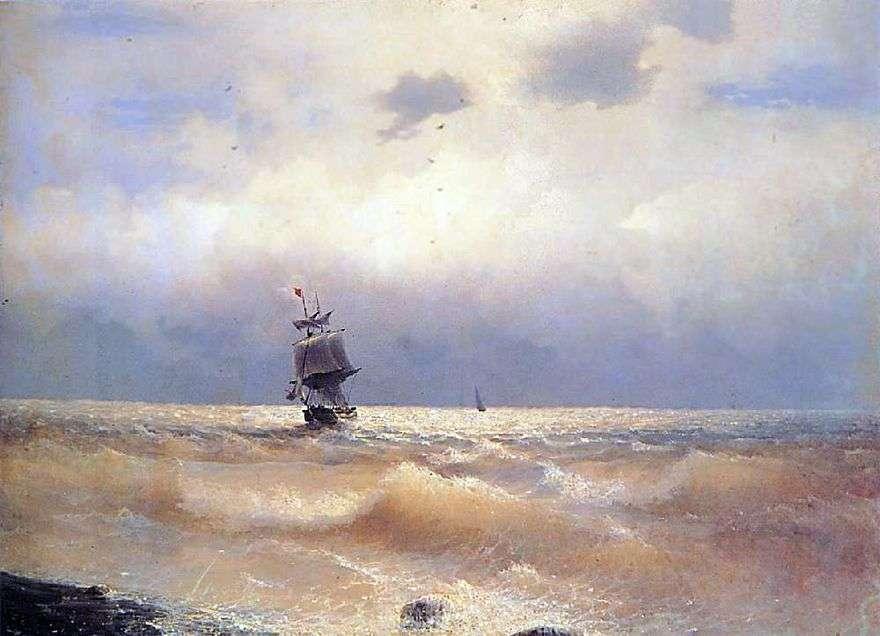 السفينة على الساحل   إيفان Aivazovsky
