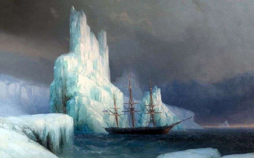 جبال الجليد في القارة القطبية الجنوبية   إيفان إيفازوفسكي