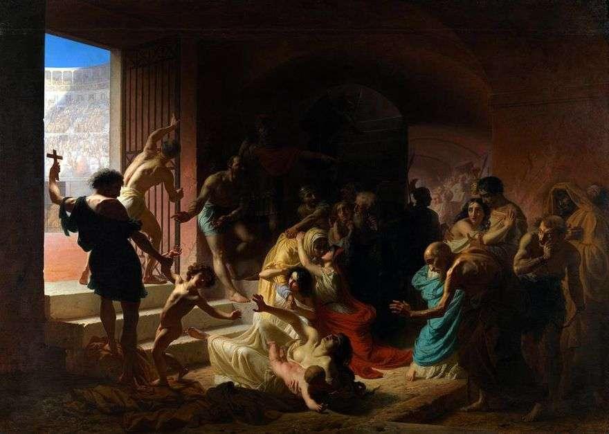 الشهداء المسيحيون في الكولوسيوم   كونستانتين فلافيتسكي