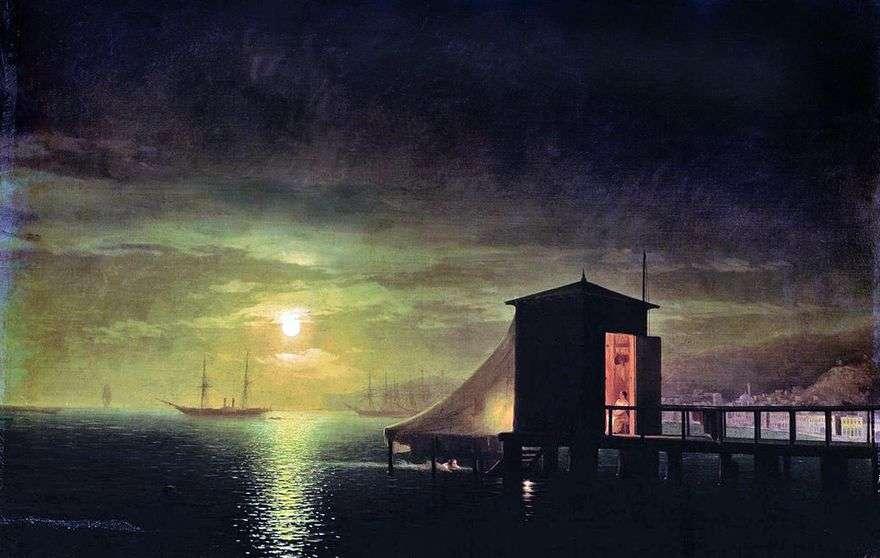 ليلة القمر حمام في فيودوسيا   إيفان إيفازوفسكي