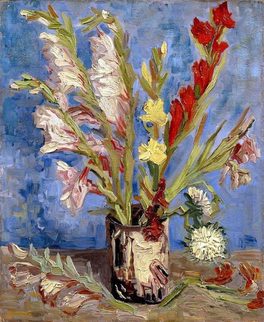 إناء مع Gladiolus   فنسنت فان جوخ