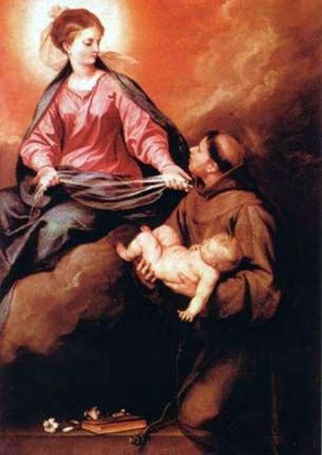 رؤية sv. أنطونيو والدة الله مع الطفل   ألونسو كانو