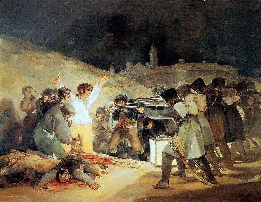 إطلاق النار على المتمردين في ليلة 3 مايو 1803   فرانسيسكو دي غويا
