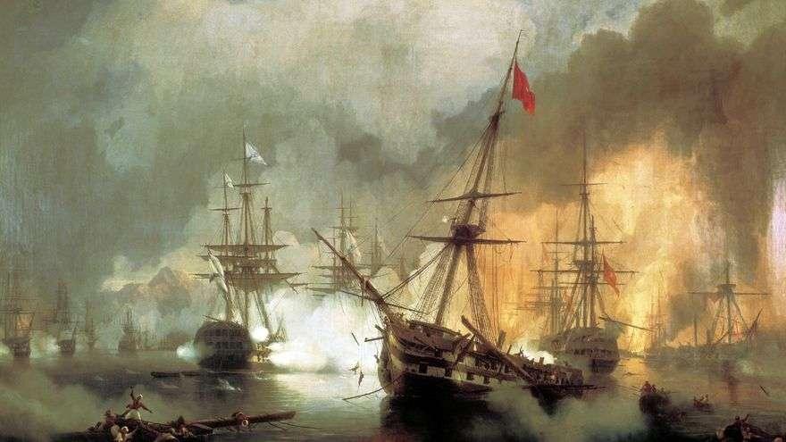 معركة نافارين البحرية ، 2 أكتوبر 1827   إيفان إيفازوفسكي