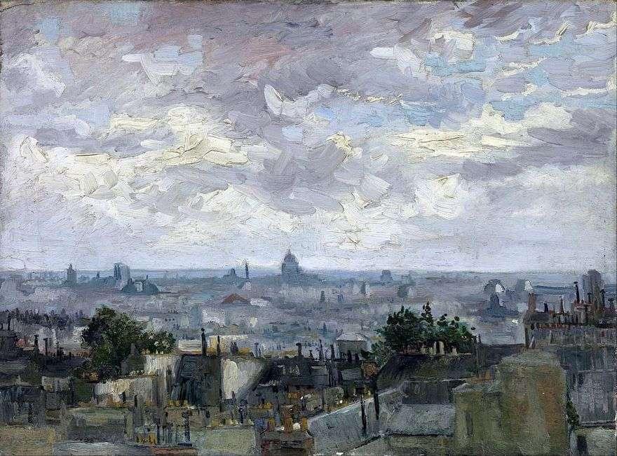 منظر على أسطح المنازل في باريس   فنسنت فان جوخ