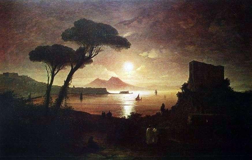 خليج نابولي في ضوء القمر   إيفان إيفازوفسكي
