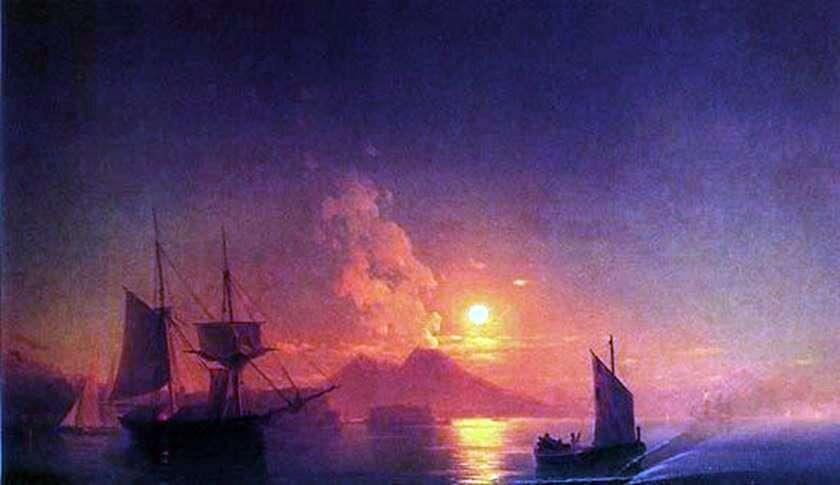 خليج نابولي في ليلة مقمرة   إيفان إيفازوفسكي