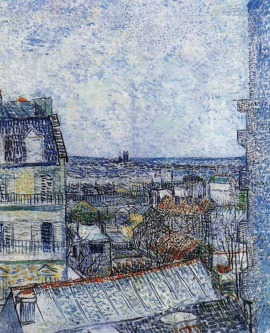 منظر باريس من غرفة Vincent في Rue Lepic II   Vincent Van Gogh
