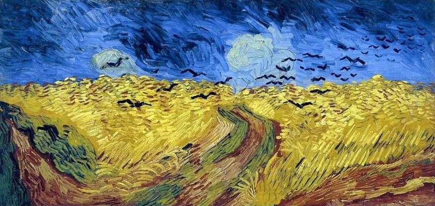 الغربان على حقل القمح (حقل القمح مع الغربان)   فنسنت فان جوخ