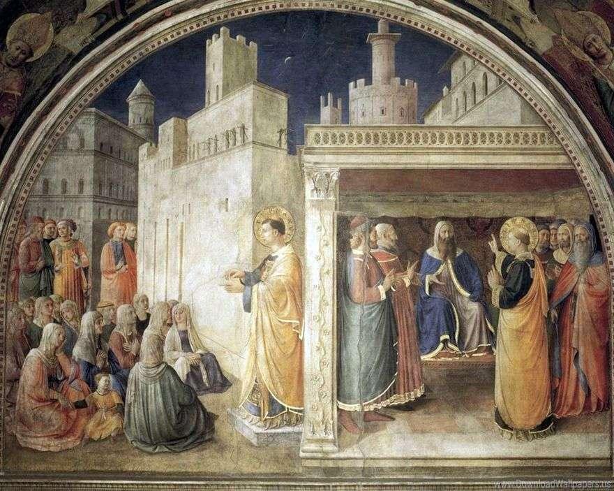 خطبة سف. ستيفان. سانت ستيفن قبل Sanhedrin   انجليكو فرا