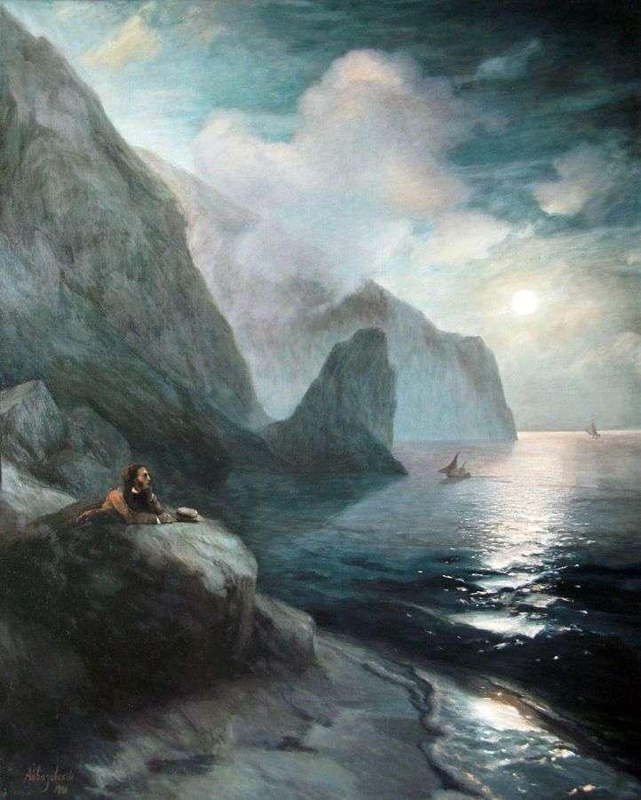 بوشكين في القرم في صخور غورزوف   إيفان إيفازوفسكي